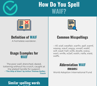 Correct spelling for waif
