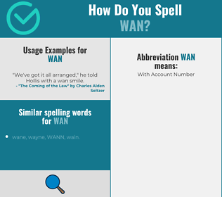 Correct spelling for wan