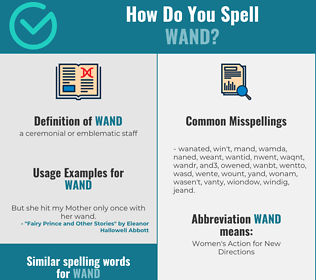 Correct spelling for wand