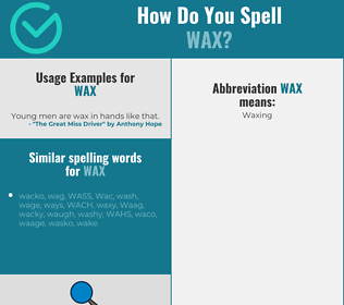 Correct spelling for wax