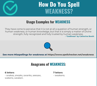 Correct spelling for weakness