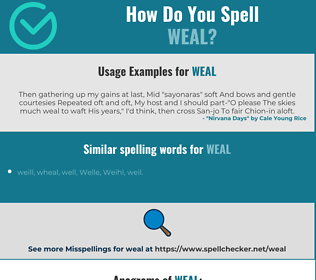 Correct spelling for weal
