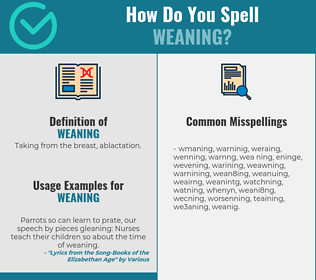 Correct spelling for weaning