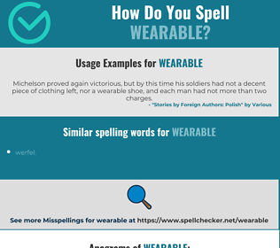 Correct spelling for wearable