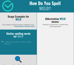 Correct spelling for weld