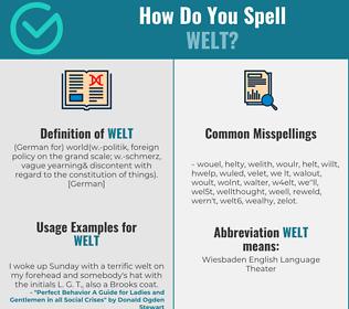 Correct spelling for welt