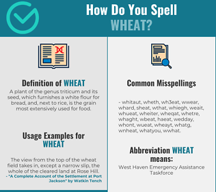 Correct spelling for wheat