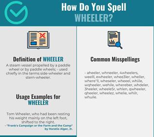 Correct spelling for wheeler