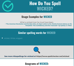 Correct spelling for wicked