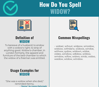 Correct spelling for widow
