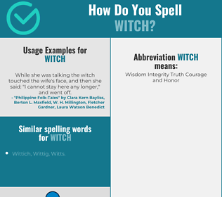Correct spelling for witch