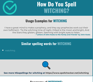 Correct spelling for witching