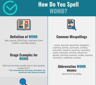 Correct spelling for womb