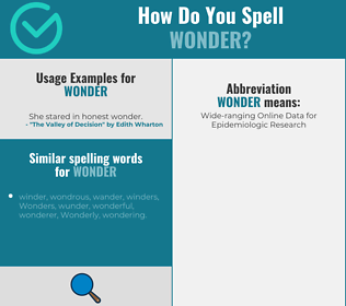 Correct spelling for wonder