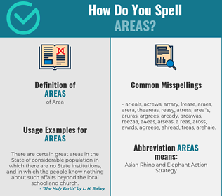 Correct spelling for Areas