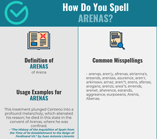 Correct spelling for Arenas