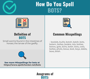 Correct spelling for Bots