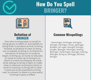 Correct spelling for Bringer