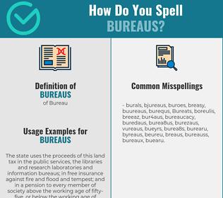 Correct spelling for Bureaus