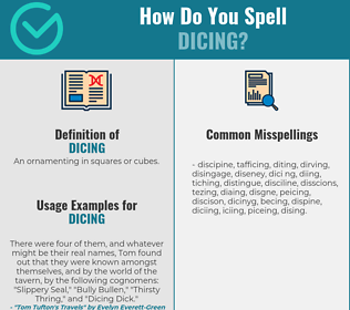 Correct spelling for Dicing