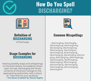 Correct spelling for Discharging