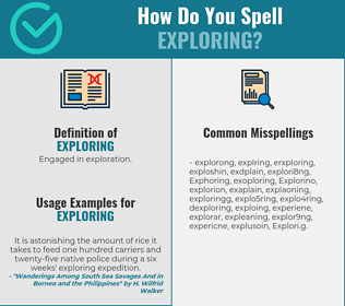 Correct spelling for Exploring