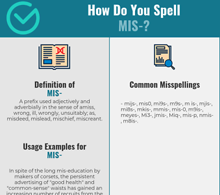 Correct spelling for Mis-