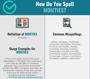 Correct spelling for Moieties