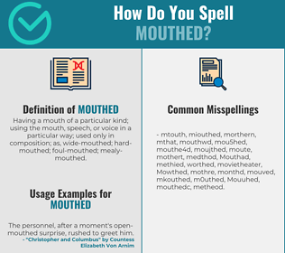 Correct spelling for Mouthed