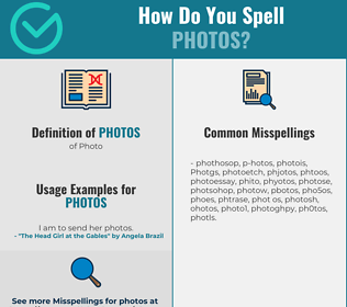 Correct spelling for Photos