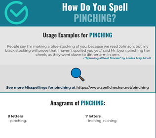 Correct spelling for Pinching
