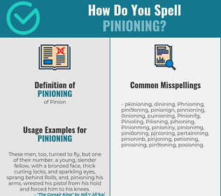 Correct spelling for Pinioning