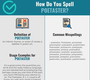Correct spelling for Poetaster