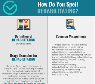 Correct spelling for Rehabilitating