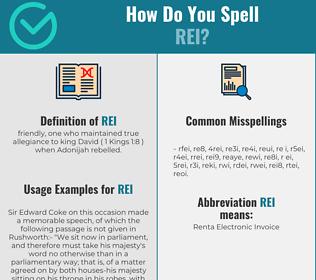 Correct spelling for Rei