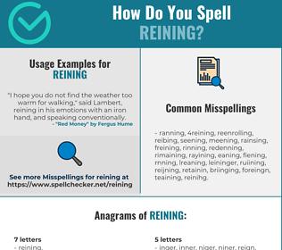 Correct spelling for Reining