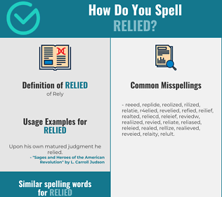 Correct spelling for Relied