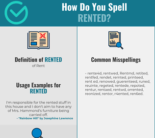 Correct spelling for Rented
