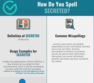 Correct spelling for Secreted