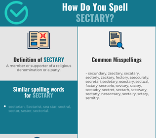 Correct spelling for Sectary