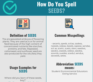 Correct spelling for Seeds