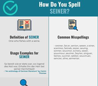 Correct spelling for Seiner
