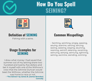 Correct spelling for Seining