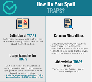 Correct spelling for Traps