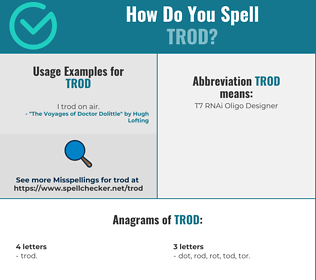 Correct spelling for Trod