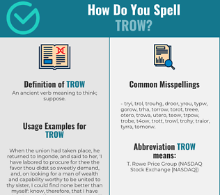 Correct spelling for Trow