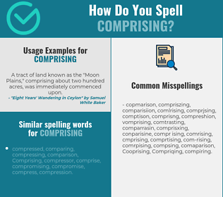 Correct spelling for Comprising