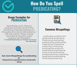 Correct spelling for Predicating