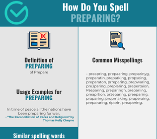 Correct spelling for Preparing