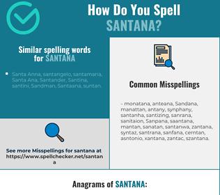 Correct spelling for Santana
